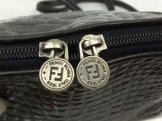 Photo7: Auth FENDI crocodile Leather Black Shoulder Bag Made In Italy 7K120520n (7)