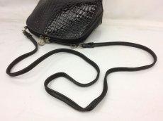 Photo9: Auth FENDI crocodile Leather Black Shoulder Bag Made In Italy 7K120520n (9)