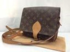 Photo1: Auth Louis Vuitton Monogram Cartouchiere Cross Body Shoulder Bag 8E080440t (1)