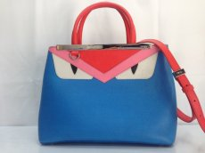 Photo2: Auth Fendi 2 Jours Monster eye 2 Way Shoulder Hand Bag 8E260110r (2)