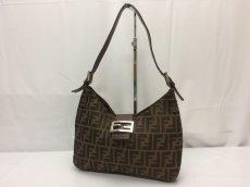 Photo1: Auth FENDI Zucca Pattern Logos Shoulder Bag 8G120130n (1)