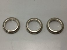 Photo2: Auth CHANEL 925 Silver Ring US size 6.5 3set 8i120140m (2)