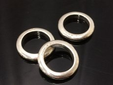 Photo1: Auth CHANEL 925 Silver Ring US size 6.5 3set 8i120140m (1)