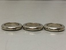 Photo4: Auth CHANEL 925 Silver Ring US size 6.5 3set 8i120140m (4)