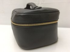 Photo4: Auth CHANEL caviar  skin Canvas Make up Cosmetic Porch Hand Bag 8L220200n (4)