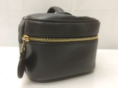 Photo3: Auth CHANEL caviar  skin Canvas Make up Cosmetic Porch Hand Bag 8L220200n (3)