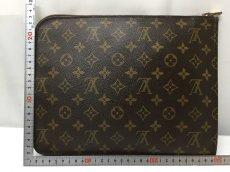 Photo2:  Auth Louis Vuitton Monogram Posh Document Clutch Bag Vintage 9C060110n (2)