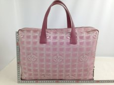 Photo2: Auth Chanel Pink Tote Bag Nylon 5L080480 (2)