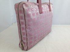 Photo3: Auth Chanel Pink Tote Bag Nylon 5L080480 (3)