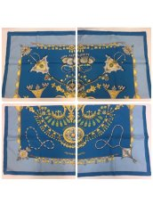 "Photo2: Auth Hermes Scarf ""Parures Des Sables"" 100% Silk  9H070070n (2)"