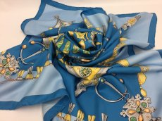 "Photo6: Auth Hermes Scarf ""Parures Des Sables"" 100% Silk  9H070070n (6)"