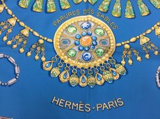"Photo3: Auth Hermes Scarf ""Parures Des Sables"" 100% Silk  9H070070n (3)"