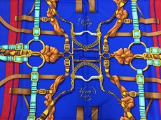 "Photo4: Auth Hermes  100% Silk Scarf  ""Grand Manage Hd' ORIGNY""  9H120240n (4)"