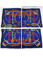 "Photo3: Auth Hermes  100% Silk Scarf  ""Grand Manage Hd' ORIGNY""  9H120240n (3)"