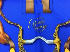 "Photo6: Auth Hermes  100% Silk Scarf  ""Grand Manage Hd' ORIGNY""  9H120240n (6)"