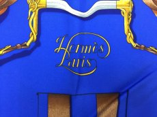 "Photo5: Auth Hermes  100% Silk Scarf  ""Grand Manage Hd' ORIGNY""  9H120240n (5)"