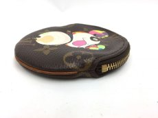 Photo3: Auth Louis Vuitton Monogram PANDA TAKASHI MURAKAMI Coin Case  9i100050n (3)