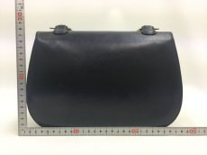 Photo2: Auth Gucci Bamboo Handle 2 way Dark Blue Leather Shoulder Hand Bag 9L050270n (2)
