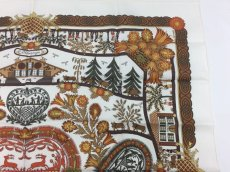 Photo3: Authentic Hermes Brown Printed 100% Silk Scarf UNUSED 9L050010n (3)