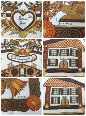 Photo6: Authentic Hermes Brown Printed 100% Silk Scarf UNUSED 9L050010n (6)