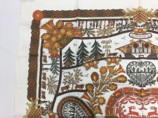 Photo2: Authentic Hermes Brown Printed 100% Silk Scarf UNUSED 9L050010n (2)