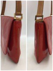 Photo3: Auth LOUIS VUITTON Vernis Red Thompson Street Shoulder bag  9L270130n (3)