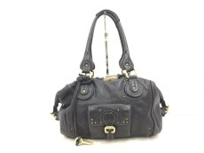 "Photo1: Auth Chloe Paddington Leather Hand bag Black Vintage 0C220050n"" (1)"