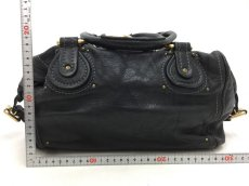 "Photo2: Auth Chloe Paddington Leather Hand bag Black Vintage 0C220050n"" (2)"