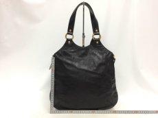 "Photo2: Auth Yves Saint Laurent Patent leather Tote Hand Bag Black Vintage 0C220080n"" (2)"