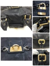 "Photo11: Auth Chloe Paddington Leather Hand bag Black Vintage 0C220050n"" (11)"