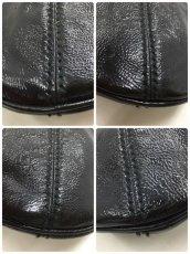 "Photo11: Auth Yves Saint Laurent Patent leather Tote Hand Bag Black Vintage 0C220080n"" (11)"