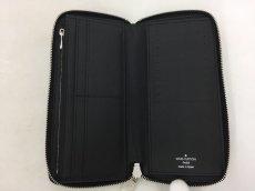 "Photo5: Auth Louis Vuitton Taiga Black Leather Zippy Long Wallet UNUSED  0D280120n"" (5)"