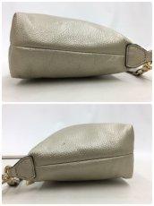 "Photo11: Auth FURLA Metallic Silver color Leather 2 way shoulder hand bag 57010417n"" (11)"