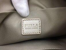 "Photo7: Auth FURLA Metallic Silver color Leather 2 way shoulder hand bag 57010417n"" (7)"