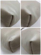 "Photo9: Auth FURLA Metallic Silver color Leather 2 way shoulder hand bag 57010417n"" (9)"