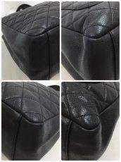 "Photo11: Auth Chanel Lambskin Black matelasse Shopping Tote Shoulder bag 0G15 200601 n"" (11)"