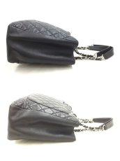 "Photo10: Auth Chanel Lambskin Black matelasse Shopping Tote Shoulder bag 0G15 200601 n"" (10)"
