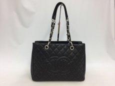 "Photo1: Auth Chanel Lambskin Black matelasse Shopping Tote Shoulder bag 0G15 200601 n"" (1)"