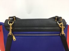 "Photo4: Auth Celine Tri Color Leather TRAPEZE BAG 2 way 0G15 1911027 n"" (4)"