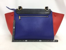 "Photo2: Auth Celine Tri Color Leather TRAPEZE BAG 2 way 0G15 1911027 n"" (2)"