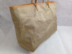 Photo3: Auth FENDI Zucca Pattern Logos Shoulder Bag Brown Canvas 5D131380# (3)