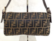 Photo2: Auth FENDI Zucca Pattern Logos Shoulder Bag Brown Made Italy 5F301320 (2)