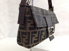 Photo3: Auth FENDI Zucca Pattern Logos Shoulder Bag Brown Made Italy 5F301320 (3)
