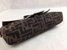 Photo5: Auth FENDI Zucca Pattern Logos Shoulder Bag Brown Made Italy 5F301320 (5)