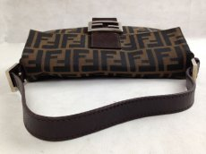 Photo12: Auth FENDI Zucca Pattern Logos Shoulder Bag Brown Made Italy 5F301320 (12)