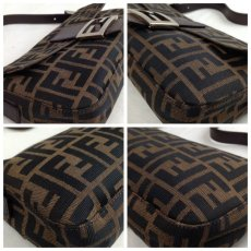 Photo11: Auth FENDI Zucca Pattern Logos Shoulder Bag Brown Made Italy 5F301320 (11)