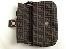 Photo6: Auth FENDI Zucca Pattern Logos Shoulder Bag Brown Made Italy 5F301320 (6)