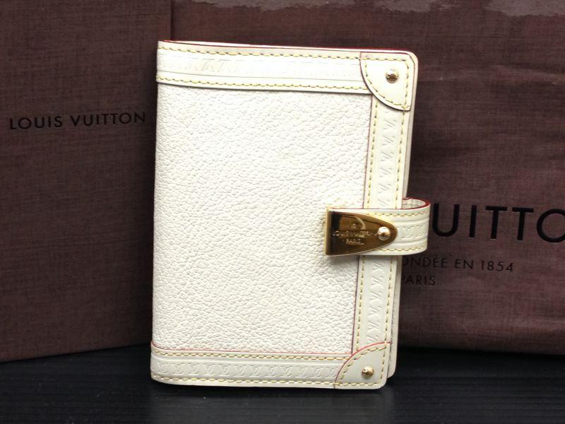 Photo1: Louis Vuitton Suhali Agenda PM White Day Planner Cover  5L230070p (1)