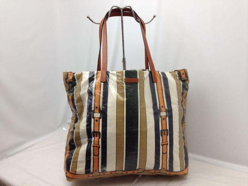 Photo1: Auth GUCCI Canvas Beige Shoulder Tote Bag 6D260200 (1)