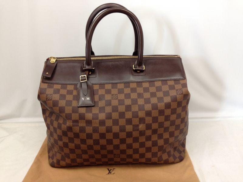 Photo1: Authentic LOUIS VUITTON Toile Damier Greenwich PM Travel bag 6H230310 (1)
